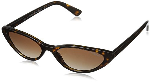 Vogue Eyewear dames 0VO5237S W65613 52 zonnebril, bruin (Dark Havana/Browngradient)