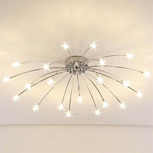 BMEI Lampada moderna del soffitto della stella per la stanza da bagno della stanza da letto Lampadari del ristorante Lampadina del G4 Illuminazione domestica Lampada a sospensione semplice e calda del