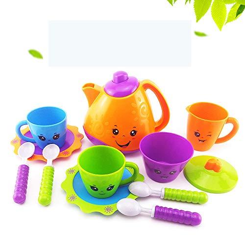 PUDDINGT® Juego de té de Juguete Mini Juego de rol con Comida de Juego y Tetera Pretende Juguetes para niños Chicas Niños de 3 años,Purple,12