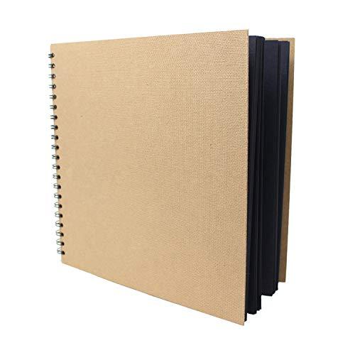 Artway Enviro - Skizzenbuch - groß & quadratisch - 100{835b5557a6bc96840878b02b5abcfbe3ce5cfe217400d664922a36422cd1c261} Recycling - Schwarzes Papier/Karton - 285 x 285 mm - 30 Blatt mit 270 g/m²