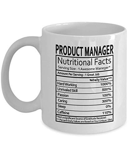 Manager ds. produktu prezenty manager ds. produktów żywieniowych etykieta manager produktu dowcipne prezenty - prezenty kubek do kawy filiżanka do herbaty biały - zabawne prezenty dla menedżerów 325 ml