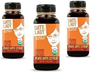 Premium Organic Date Syrup 3-pack BPA-Free Bottle   1 Ingredient: Just Organic Dates. Vegan, Paleo, Gluten-free & Kosher