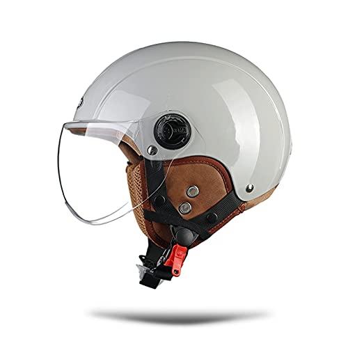 LIONCIANO Motorradhelme für Herren und Damen, Mopedhelme mit reflektierendem Visier, Stoßfester Belüftungshelm, schützt die Verkehrssicherheit der Benutzer