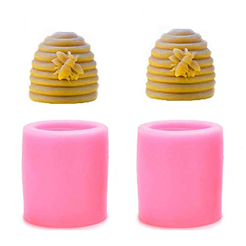 2PACK Bee Kerzengießformen–chougui Silikon Bee Form für Homemade Bienenwachs Kerze, Mini Seife, Lotion Bar, Fondant, Schokolade, Süßigkeiten, Kuchen dekorieren, Polymer Fimo etc.