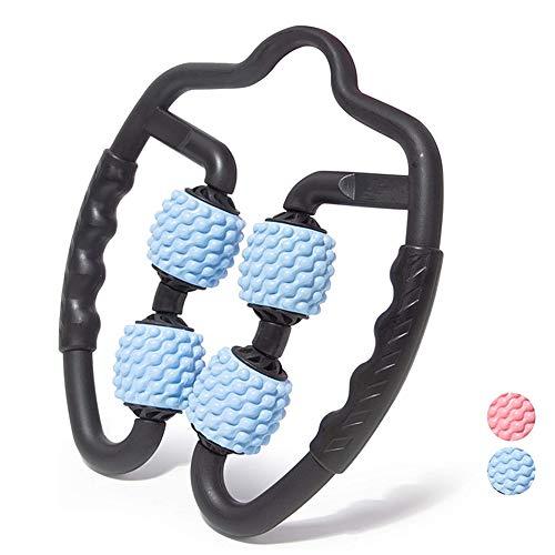 YGMXZL Multifunktion Massage Muskel Roller,360 ° Massage Roller mit Massagebälle für gegen Muskelkater, Krämpfe und Verspannungen,Körper Muskel Entspannen,Selbstmassage Body Recovery (Blau)