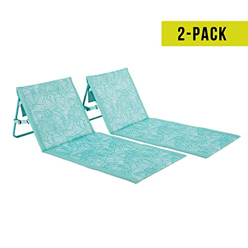 Lightspeed Outdoors 2 Pack Lounger Park and Beach Chair (Seaglass)