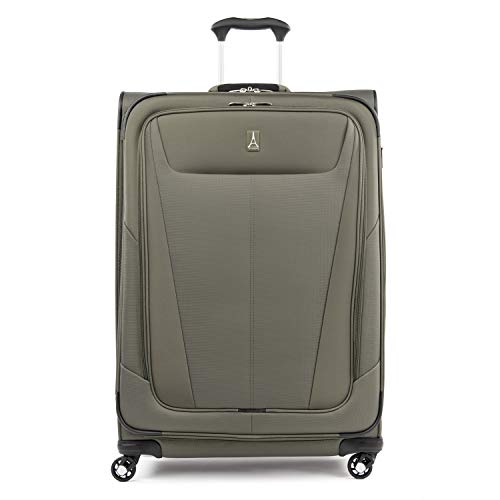 Travelpro Maxlite 5-Softside Expandable Spinner Wheel Luggage, Slate Green, Checked-Large 29-Inch