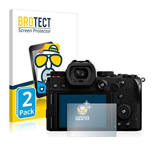 BROTECT Protector Pantalla Anti-Reflejos Compatible con Panasonic Lumix S5 (2 Unidades) Película Mate Anti-Huellas