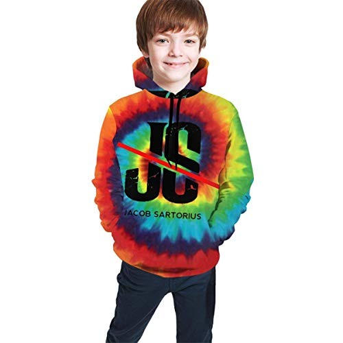 dgfgad Kapuzenpulli Kids Hoodies Ja-cob SAR-torius JS Logo Youth Sweatshirt with Pocket Pullover Clothes Hooded for Boys Girls