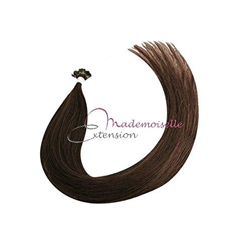Extension Cheveux kératine - Gamme Density - Chatain foncé - 55/60 cm