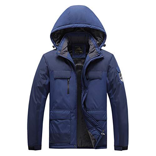shine future Herren Skijacke Herren Outdoorjacke Atmungsaktiv Warm Gefüttert Winterjacke mit Abnehmbarer Kapuze Bergjacke Snowboardjacke