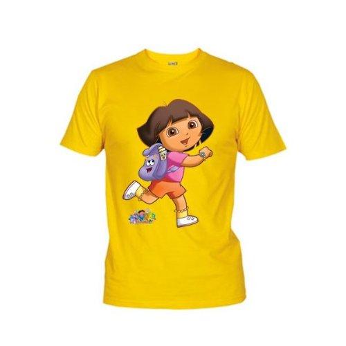 Mx Games Camiseta Dora la Exploradora Mochila  Talla: 9 10 años  Color: Amarillo