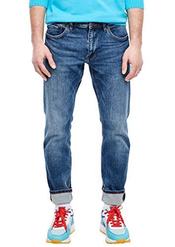 s.Oliver RED LABEL Herren Regular Fit: Straight leg-Jeans blue stretched den 36.34
