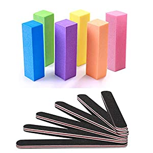 Beauty Shopping Nail Files and Buffer, TsMADDTs Professional Manicure Tools Kit Rectangular Art Care
