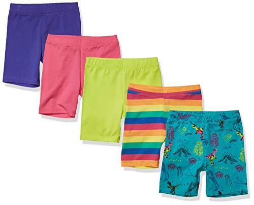 Marca Amazon - Spotted Zebra Paquete de 5 Pantalones Cortos Para Bicicleta Midi - shorts Niñas