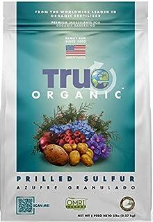 True Organic Plant Foods - Prilled Sulfur (Soil Acidifier) 4lbs - CDFA, OMRI, for Organic Gardening