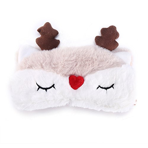 Dibiao Cute Animal Eye Cover Sleeping Christmas Deer Winter Carton Nap Eye Shade Reindeer