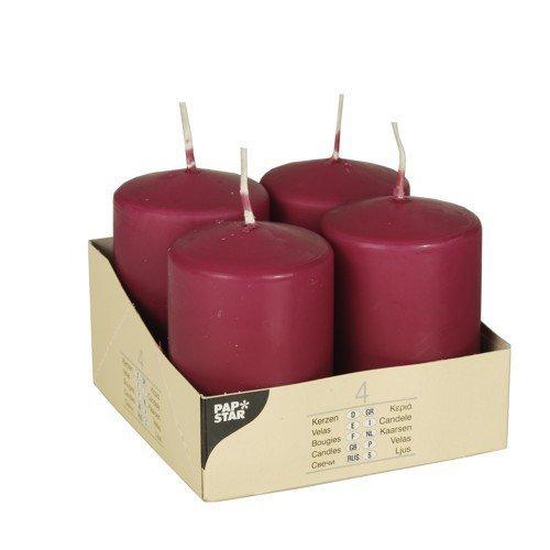 PARTY DISCOUNT Candele Bordeaux Ø 50 mm, 80 mm