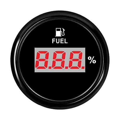 Odometer Spur 52mm Digital Fuel Füllstandmessgerät Meter 240~33 Ohm Öltankstandsanzeige Kraftstoffanzeige 9~32V for Auto-Boots-Marine ZHQHYQHHX (Color : Black Silver, Size : Kostenlos)