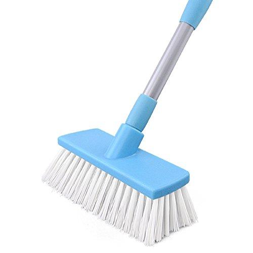 WAYMX Lange Griff Bodenbürste Bad Reinigungsbürste Küche Versenkbare Reinigungsbürste Fliesen Hartpinsel Reinigungsmittel