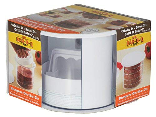 Mr. Bar-B-Q 12 Piece Patty Press Set | Save Time with Early Prep | Quick Release Insert | Makes Perfect Patties Every Time | Refrigerator and Dishwasher Safe | Great for Picnics and Tailgating
