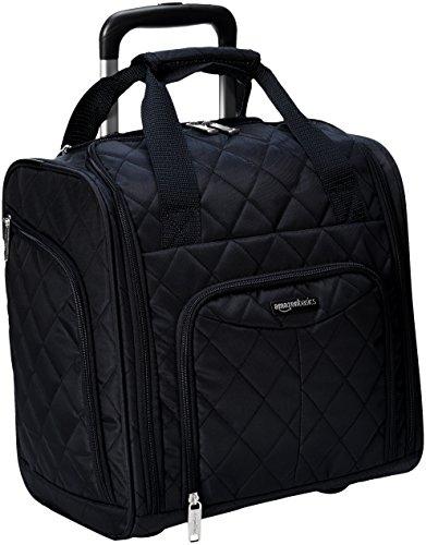 Amazon Basics - Equipaje para llevar bajo el asiento, Negro acolchado