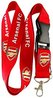 Arsenal Red Lanyard Keychain Holder with Snap Buckle
