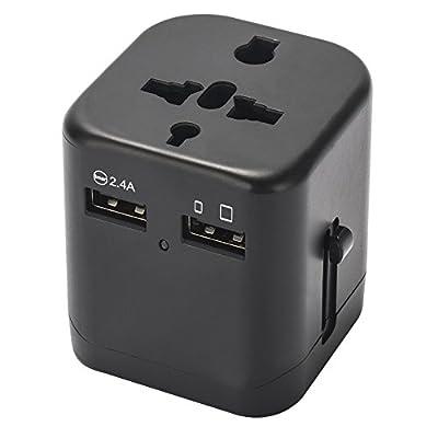 Universal Travel Adapter- Anwaii International Travel Plug Adapter