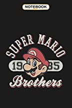 Notebook: Super Mario Bros 1985 Face Vintage Logo Graphic , Wide ruled 100 Pages Bank Lined Paperback Journal/ Composition Notebook