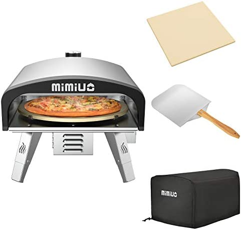 Mimiuo Portable Gas Pizza Oven with 13 Pizza Stone Foldable Pizza Peel Stainless Steel Gas Pizza product image