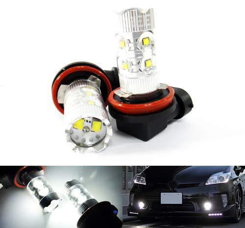 2 x Blanc H11 H8 ampoule LED Cree 50 W veilleuses Phare principal circulation diurnes DRL lampe de brouillard