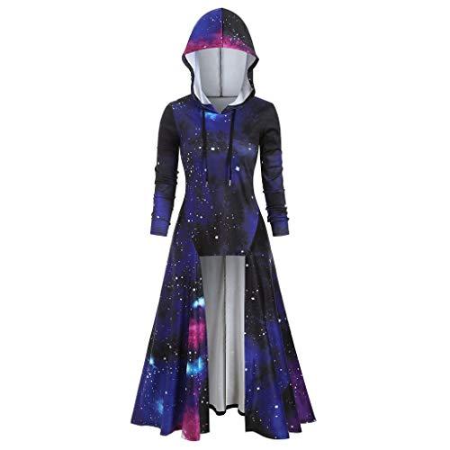 Aiserkly – Capa con capucha para mujer, blusa de manga larga, estampado en espiral, de alta calidad, para Halloween, cosplay, carnaval, disfraces, suéter marine M-36/38/40