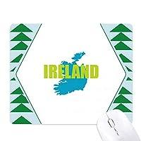 アイルランドの牧歌 オフィスグリーン松のゴムマウスパッド