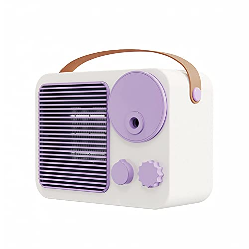 JANEFLY Portable AC - Mini Personal Air Conditioning Units with Handle, USB Charging, with Spray Humidification Function, Portable AC Fan Rapid Cooling Fan for Bedroom Home Office