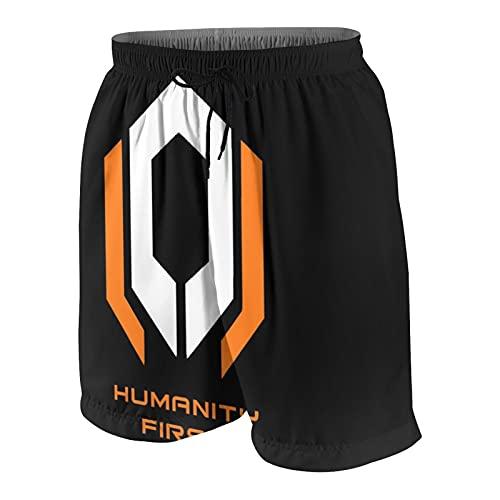 woeinvi Mass Effect Video Game Gift Novelty Boys Swim Trunks 3D Impreso Quick Dry Bañador Shorts Verano Playa Boardshort para Edad 15-22 años