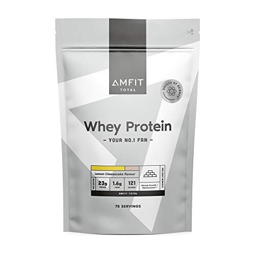 Marca Amazon - Amfit Nutrition Proteína de Suero Lácteo, Sabor Cheesecake de Limón, 2.27 kg ✅