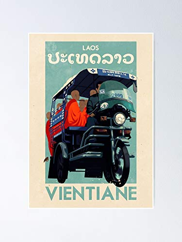 AZSTEEL Travel Posters - Vientiane Laos Poster Poster 11.7 * 16.5
