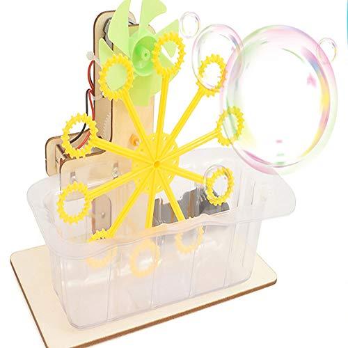 WZ Juguete Educativo para Niñas Experimentos De Ciencia Que Soplan Burbujas Máquina Automática De Bricolaje Kit Toy Boys Girls