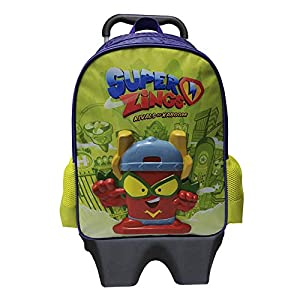 CYP BRANDS – Mochila Squishy con Trolley Extraíble Superzings, Verde