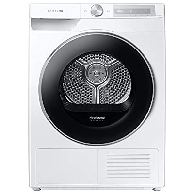 Samsung DV90T6240LH/S1 Freestanding Heat Pump Tumble Dryer with Optimal Dry™ and SmartControl+, 9kg Load, White