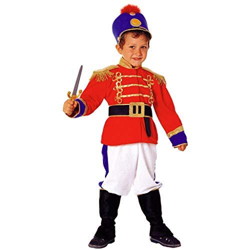 PRESTIGE & DELUXE Costume Vestito Carnevale Soldato SOLDATINO di Piombo SCHIACCIANOCI Taglia 2 3 4 5 6 7 8 Anni (3-4 Anni: Altezza Bimba/o 104 cm)