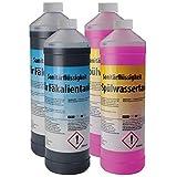 BB Sport Set 4 x 1 Liter Sanitärflüssigkeit für Campingtoiletten Chemietoiletten-Zusatz für Frisch- und Abwassertank