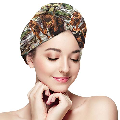 North Carolina Native American Microfiber Dry Hair Cap for Bath Spa Soft Super Absorbent Quick Drying Towel Wrap Wet Hair Turbans 11 inch X 28 inch