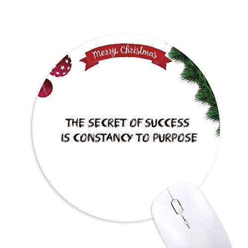 slogan le secret de la réussite est la constance de but tapis de souris en caoutchouc de sapin de noël