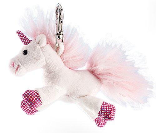 Schaffer 221 - Llavero de peluche, diseño de unicornio brillante