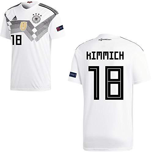 adidas Fußball DFB Deutschland Home Trikot WM 2018 Herren Kimmich 18 mit Respekt Logo Gr XL
