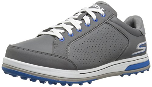 Skechers Men's Go Drive 2 Relaxed Fit Golf-Shoes,charcoal/blue,10.5 M US
