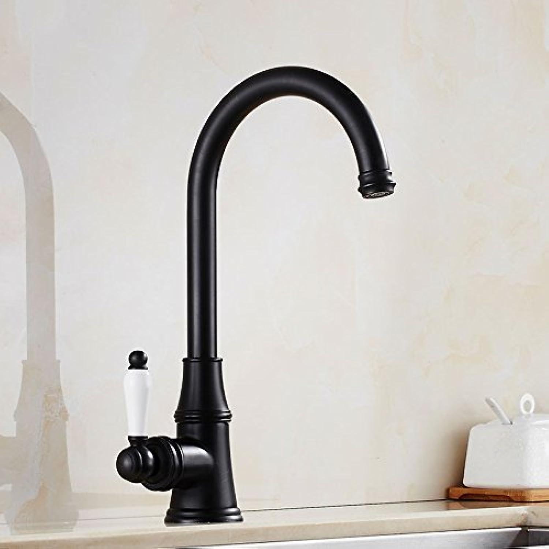 Traditional Kitchen Sink Mixer Tap Chrome Brass Monobloc Spout Basin Mixer Faucet ( color   Handle plus high section )