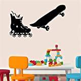 stickers muraux Roller Skates And Skateboard For Children Nursery Decals Home Decor Stickers