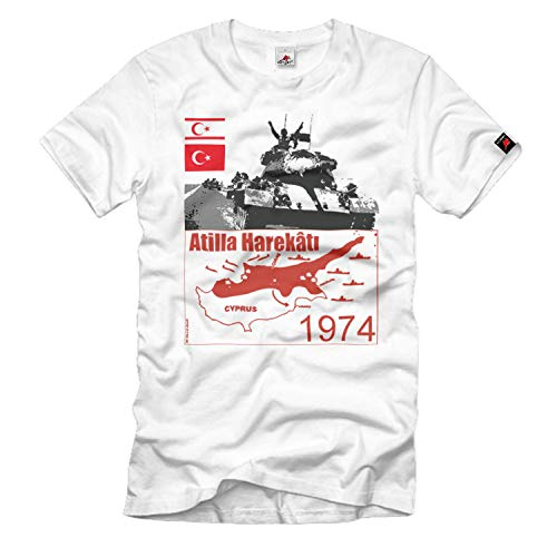 Atilla Harekâti Zuid-Afrika Turkije 1968 gevechtheid kaart T-shirt # 33210